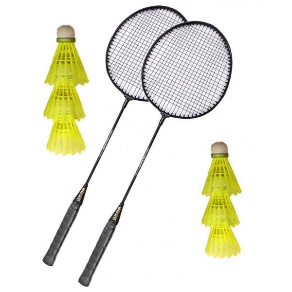 Aadia 2 Racquets And 6 Shuttles (B071H97Q89)