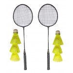 Aadia 2 Racquets And 6 Shuttles (B0727QNKL6)