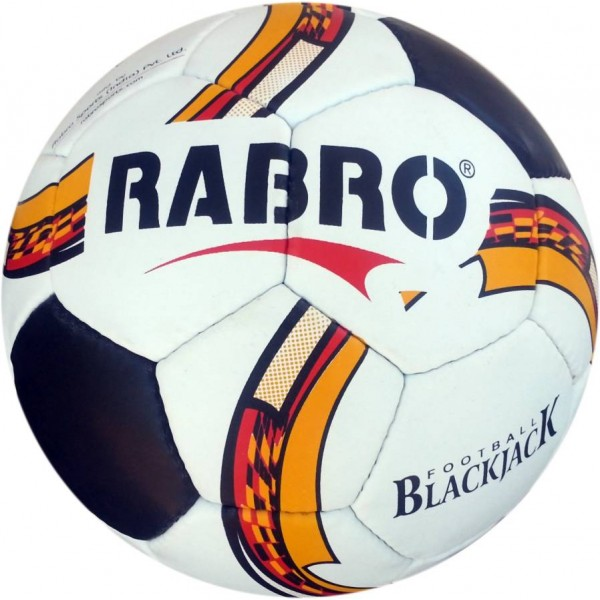 Rabro Black Jack Football Size-5 (Pack of 1, Multicolor)