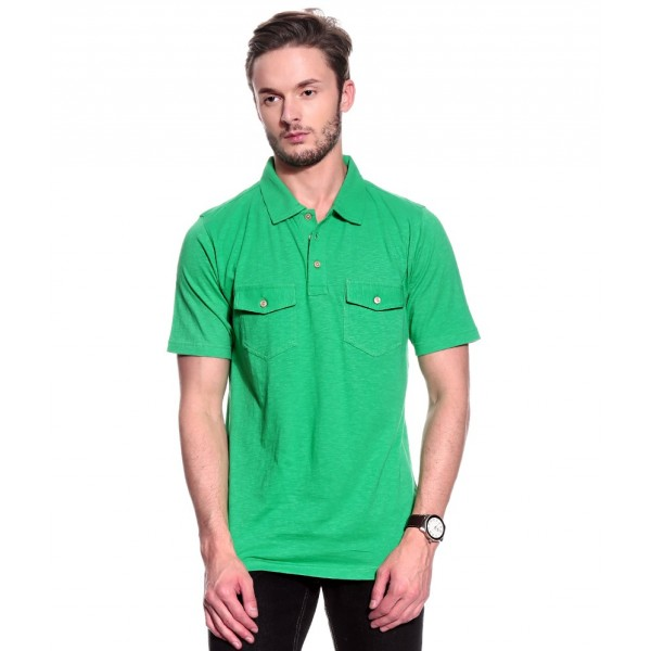 T10 Sports Slub Polo T10000303 (Green)