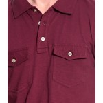 T10 Sports Slub Polo T10000304 (Maroon)