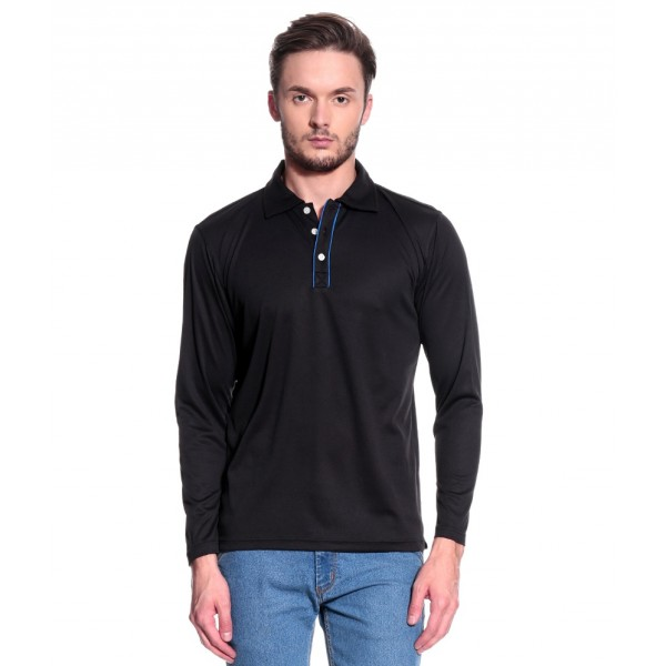 T10 Sports Polo Long Sleeve T10000323 (Black)