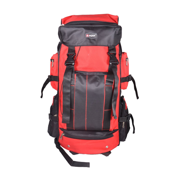 Aqsa R48 Stylish Trekking Bag (Black and Red)