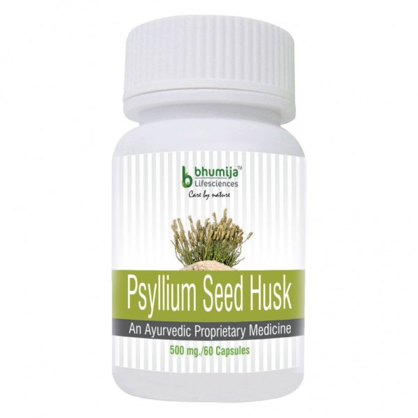 Bhumija Lifesciences Psyllium Husk (Isabgol) Capsules 60'sRelief from Constipation