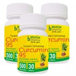 Bhumija Lifesciences Curcumin with Piper Nigram (Curcuma Longa) 30's Capsules (Pack of Three)