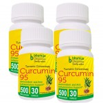 Bhumija Lifesciences Curcumin with Piper Nigram (Curcuma Longa) 30's Capsules (Pack of Four)