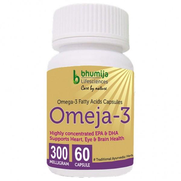 Bhumija Lifesciences Omega3 Fatty Acids (Omeja3) Capsules 60's