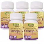 Bhumija Lifesciences Omega3 Fatty Acids (Omeja3) Capsules 60's (Pack of Five)