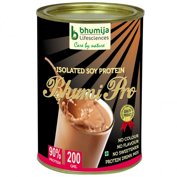 Bhumija Lifesciences Soy Protein Isolated 90% (Bhumi Pro) 200g.