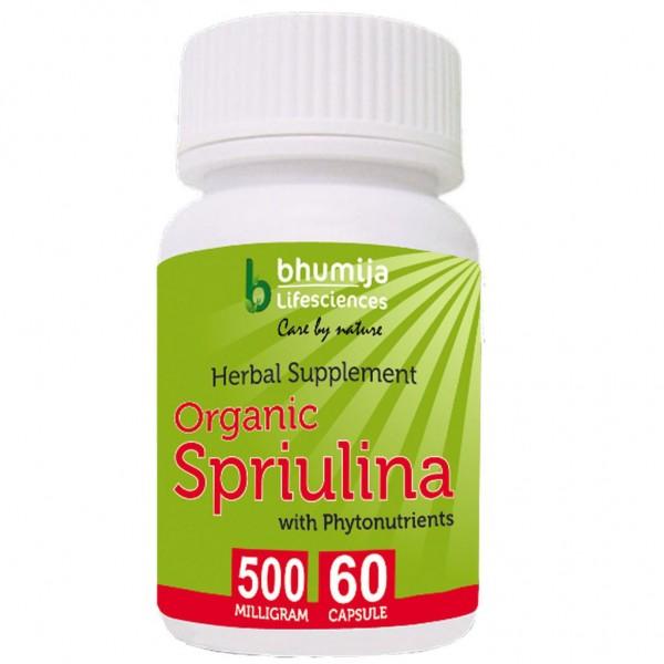 Bhumija Lifesciences Organic Spirulina Capsules 60's