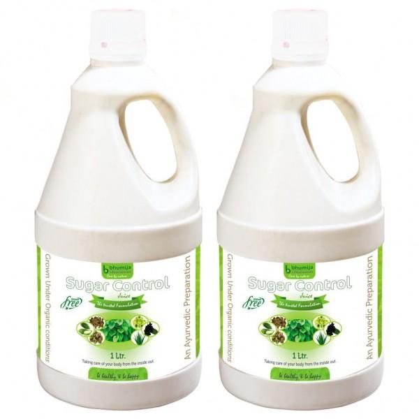 Bhumija Lifesciences Sugar Control Juice, Karela, Jamun, Daana Meethi, Gudmar, Aloe Vera (Sugar Free) 1 Ltr. (Pack of Two)