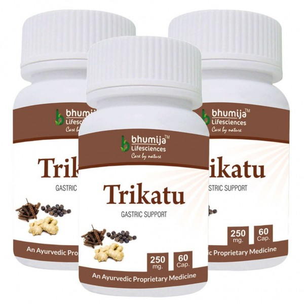 Bhumija Lifesciences Trikatu Capsules 60's (Pack of Three)