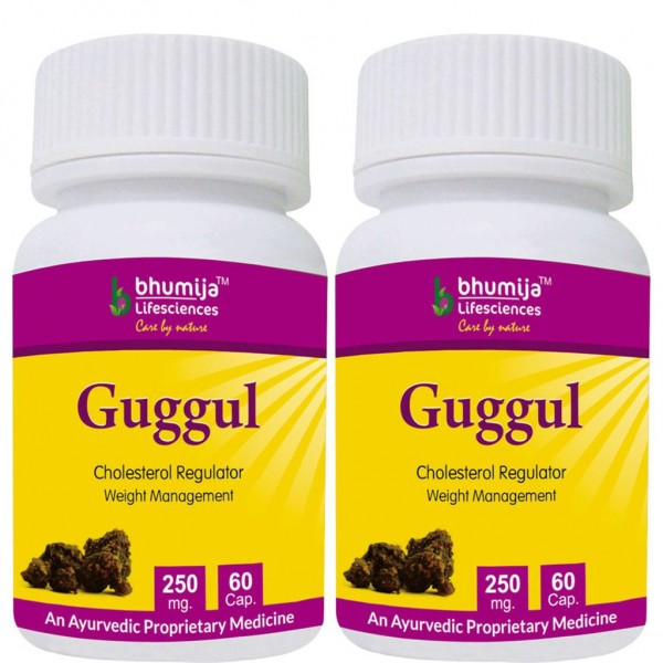 Bhumija Lifesciences Guggul Capsules 60's (Pack of Two)