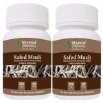Bhumija Lifesciences Safed Musli Capsules 60's (Pack of Two)