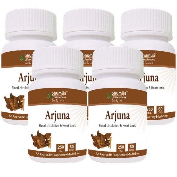 Bhumija Lifesciences Arjuna Capsules 60's (Pack of Five)