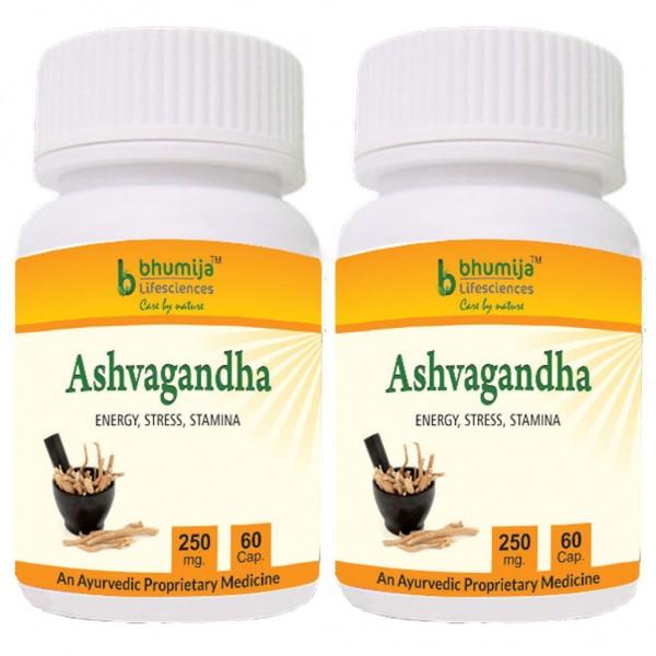 Bhumija Lifesciences Ashvagandha Capsules 60's (Pack of Two)