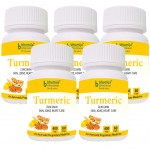 Bhumija Lifesciences Turmeric Capsules 60's (Pack of Five)