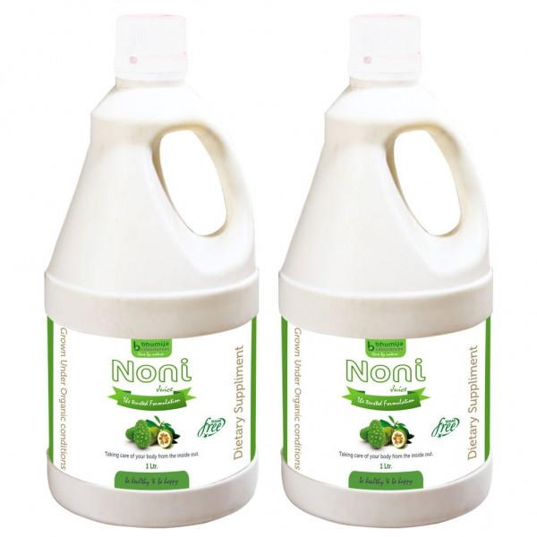 Bhumija Lifesciences Noni Juice (Sugar Free) 1 Ltr. (Pack of Two)
