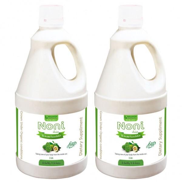 Bhumija Lifesciences Noni Juice (Sugar Free) 1 Ltr. (Pack of Two)