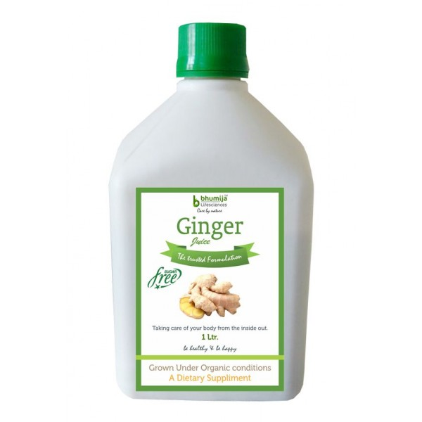 Bhumija Lifesciences Ginger Juice (Sugar Free) 1 Ltr.