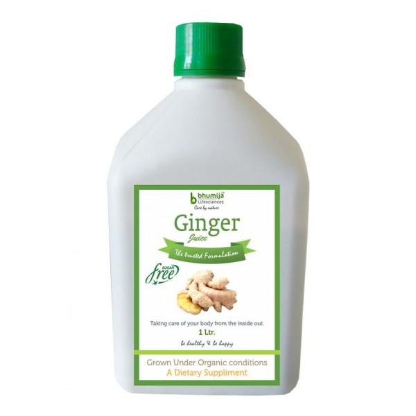 Bhumija Lifesciences Ginger Juice (Sugar Free) 1 Ltr.