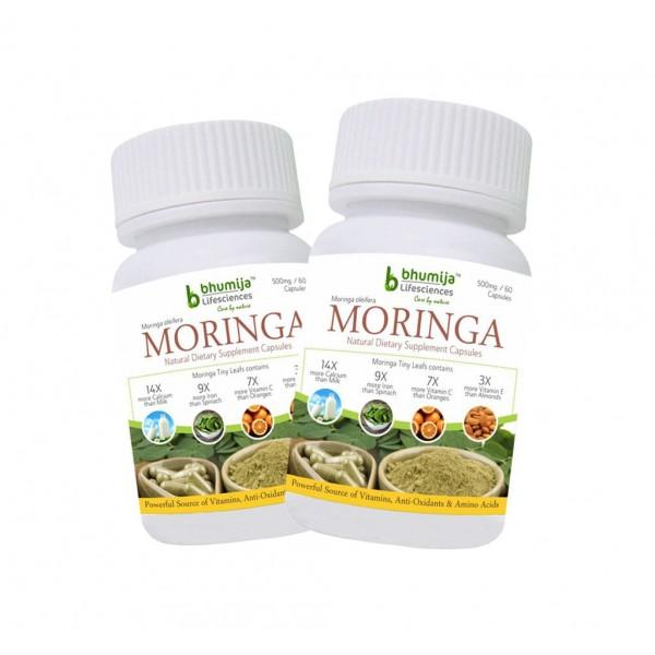 Bhumija Lifesciences Moringa Oliefera Capsules (Pack of Two)