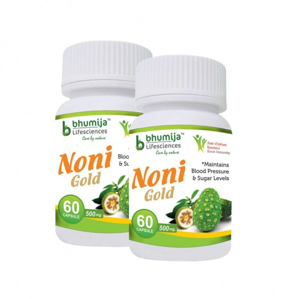 Bhumija Lifesciences Noni Gold Cap.60's (Pack of Two)