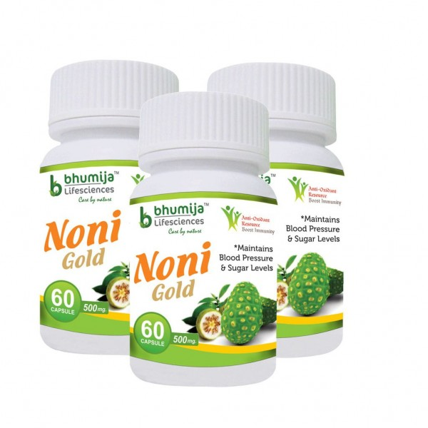 Bhumija Lifesciences Noni Gold Cap 60's (Pack of Three)