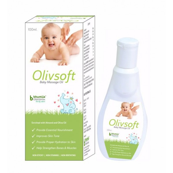 Bhumija Lifesciences Baby Massage Oil (Olivsoft) 100ml