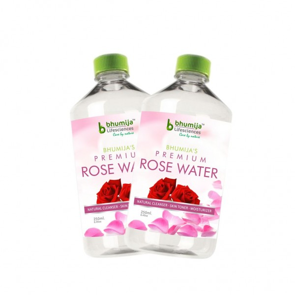 Bhumija Lifesciences Rose Water 250ML.(Pack of Two)
