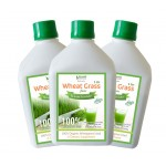 Bhumija Lifesciences Plain Wheat Grass Juice (Sugar Free) 1 Ltr. (Pack of Three)