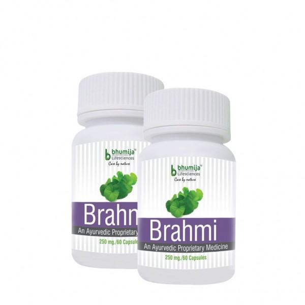 Bhumija Lifesciences Brahmi Capsules 60's (Pack of Two)
