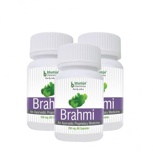 Bhumija Lifesciences Brahmi Capsules 60's (Pack of Three)
