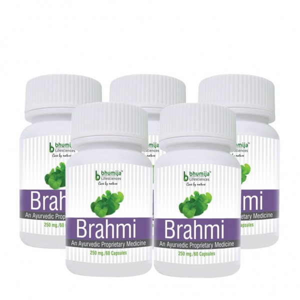 Bhumija Lifesciences Brahmi Capsules 60's (Pack of Five)