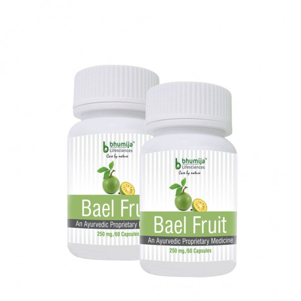 Bhumija Lifesciences Bael Fruit Capsules 60's (Pack of Two)