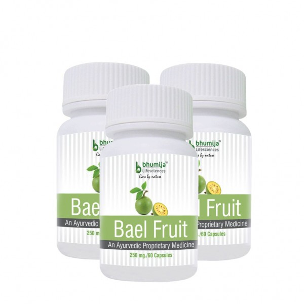 Bhumija Lifesciences Bael Fruit Capsules 60's (Pack of Three)