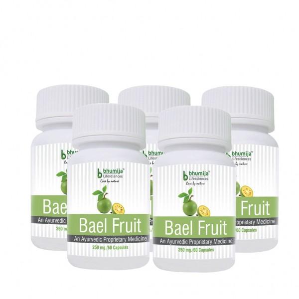 Bhumija Lifesciences Bael Fruit Capsules 60's (Pack of Five)
