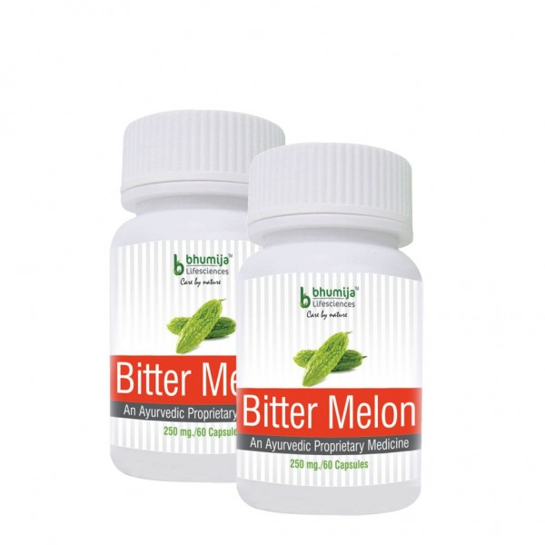 Bhumija Lifesciences Bitter Melon Capsules 60's (Pack of Two)