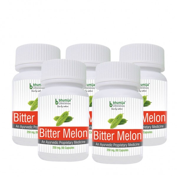 Bhumija Lifesciences Bitter Melon Capsules 60's (Pack of Five)