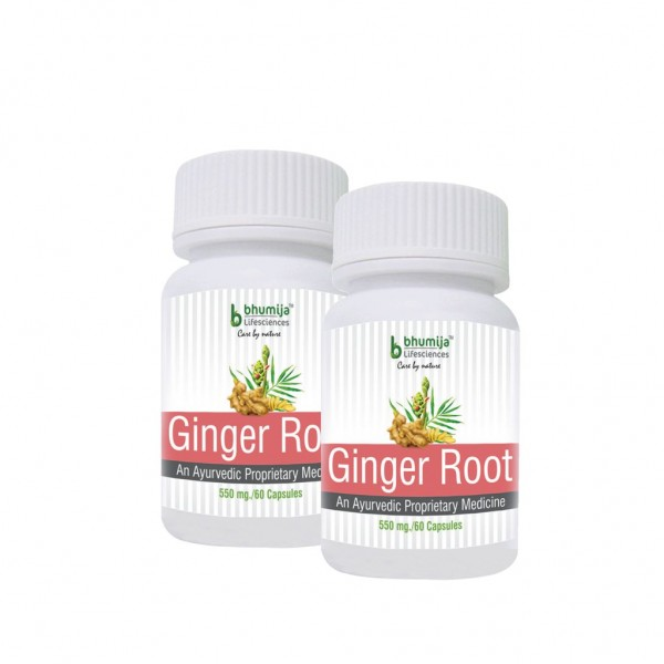 Bhumija Lifesciences Ginger Root Capsules 60's (Pack of Two)