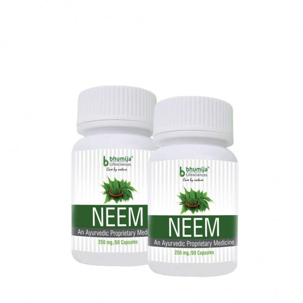Bhumija Lifesciences Neem Capsles 60's (Pack of Two)