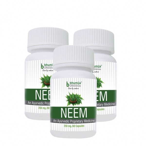 Bhumija Lifesciences Neem Capsles 60's  (Pack of Three)