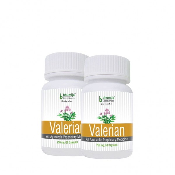 Bhumija Lifesciences Valerian Capsules 60's (Pack of Two)