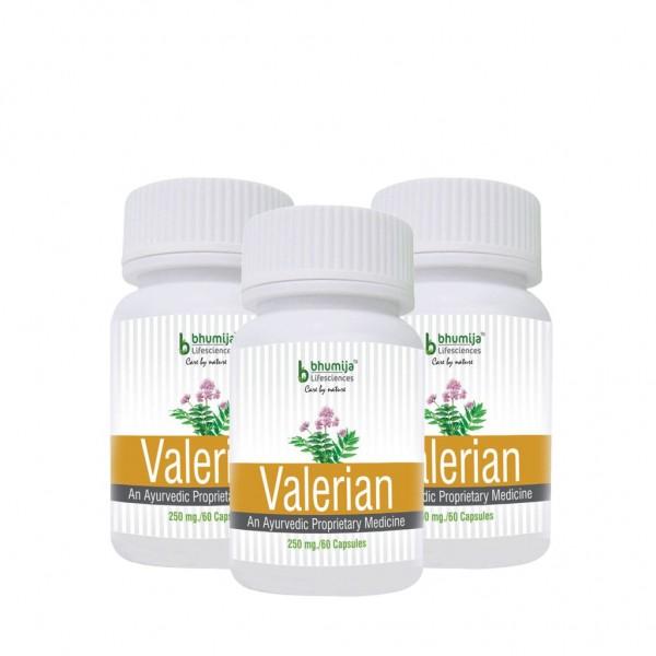 Bhumija Lifesciences Valerian Capsules 60's (Pack of Three)
