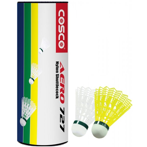 Cosco Aero 727 Nylon Shuttle Cocks (White)