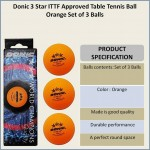 Donic 3* (ITTF Approved) Table Tennis Balls