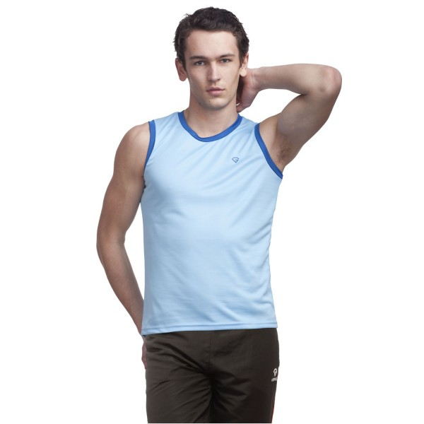 Gypsum Men Cut Sleeve Tshirt Sky Blue Color GYPMCS-00102