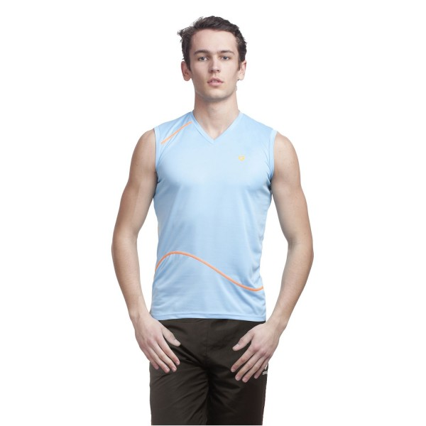 Gypsum Men Cut Sleeve Tshirt Sky Blue Color GYPMCS-00108