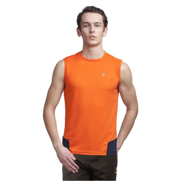 Gypsum Mens Cut Sleeve Tshirt Orange Color GYPMCS-00118