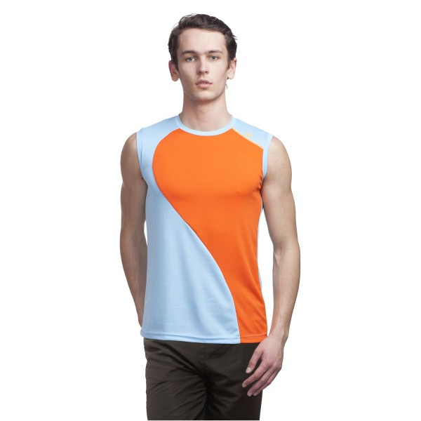 Gypsum Mens Cut Sleeve Tshirt Sky Blue Color GYPMCS-00126